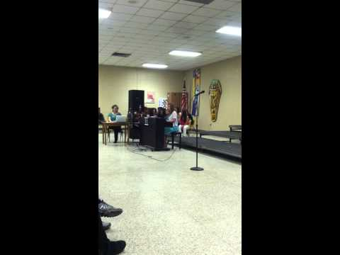 "Caitlin Trimble Adele ""Someone Like You"" cover 2015 Acadiana High School Talent Show"