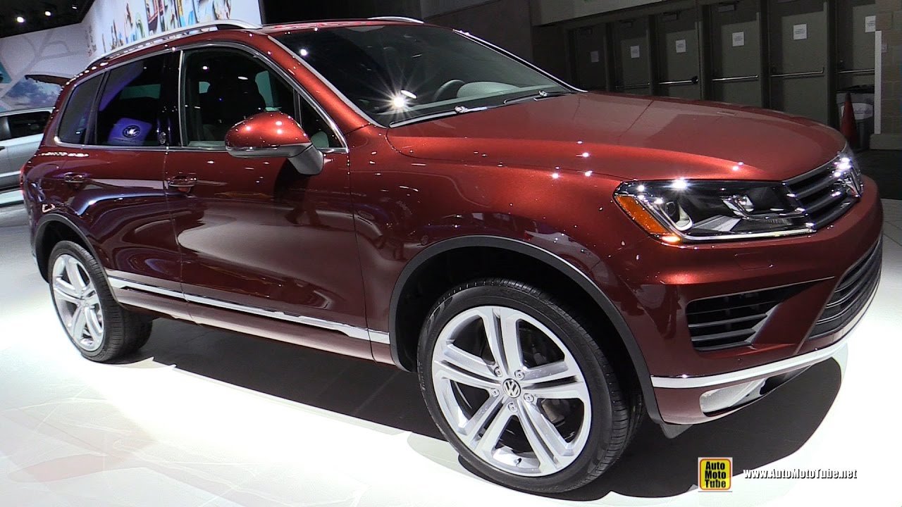 2017 volkswagen touareg exterior and interior walkaround 2016 la auto show youtube. Black Bedroom Furniture Sets. Home Design Ideas