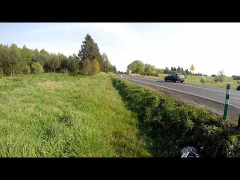 Wypadek motocyklisty na przed Szczecinkiem
