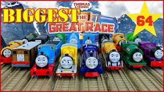 NEW BIGGEST THOMAS AND FRIENDS THE GREAT RACE #64 TRACKMASTER Thomas The Tank KIDS PLAY TOY TRAINS