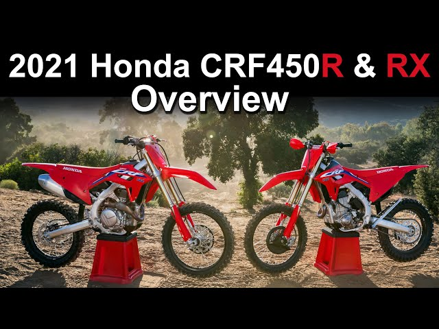2021 Honda CRF450R & CRF450RX - Model Update Overview