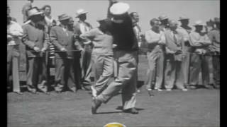 Ben Hogan Swing 1948 - Slow Motion And Very Clear
