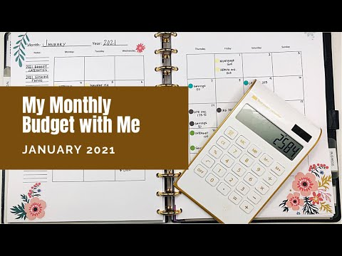 Monthly Budget With Me #january2021