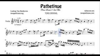 Pathetique Sheet Music for Violin Sonata 8 2ª Mov Beethoven