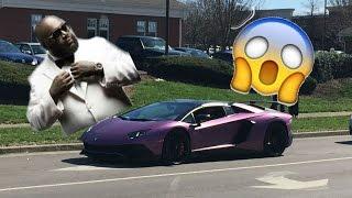 POLICE wait for cars leaving Cars & Coffee (Rick Ross Purple Lamborghini????)