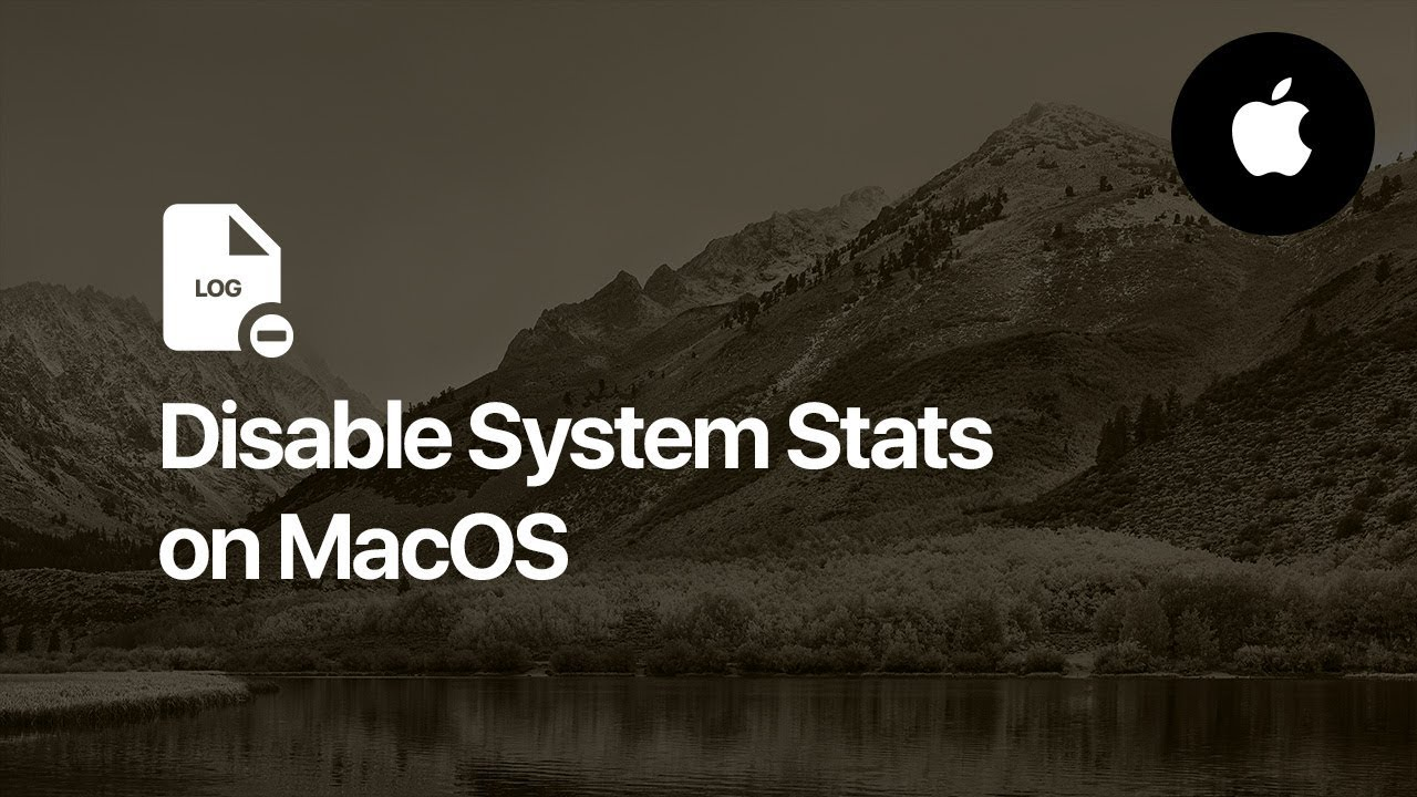 How to disable System Stats - MacOs (Mac OS X)