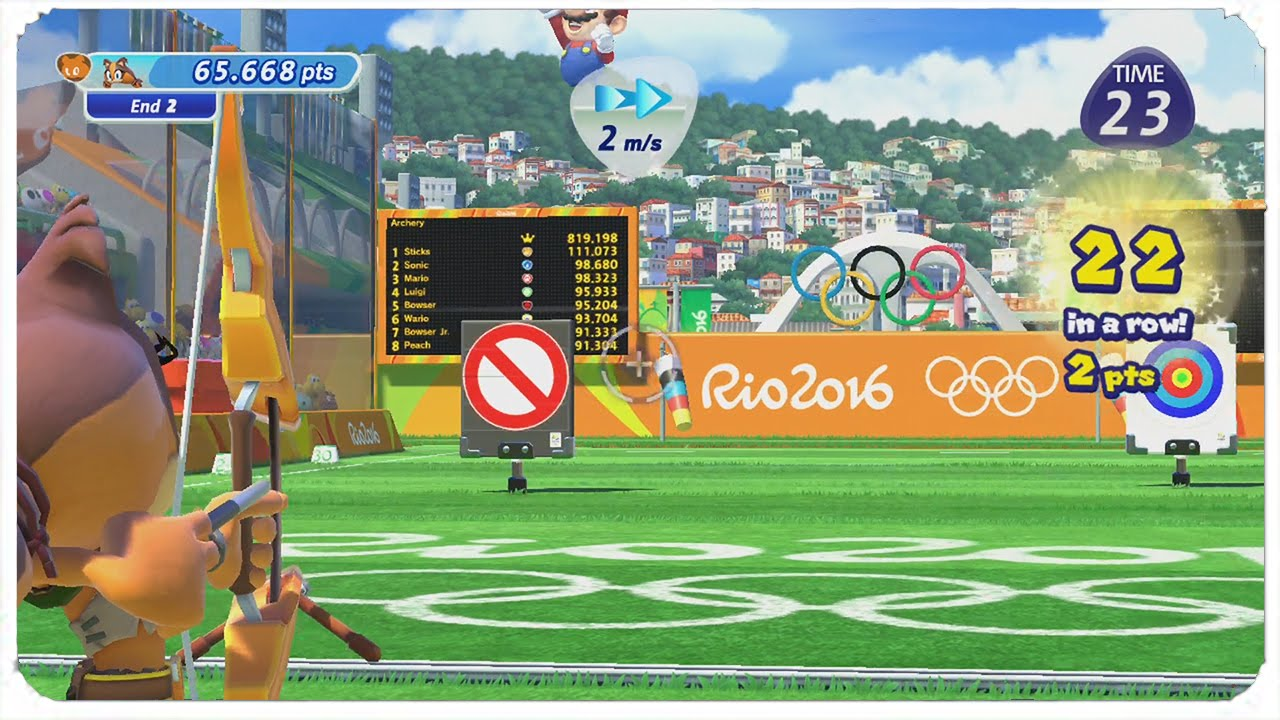 Mario & Sonic at the Olympic Games (Wii) - Archery - YouTube