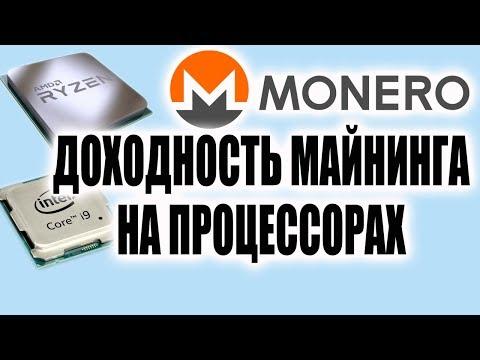 Доходность майнинга на процессоре Монеро RandomX