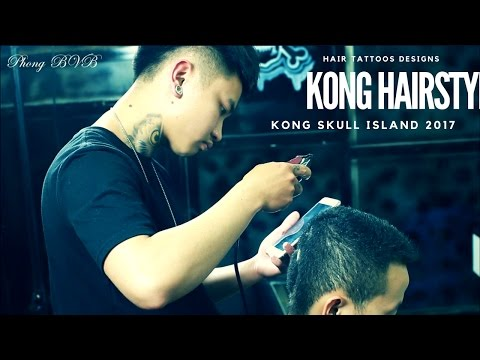 Mẫu Tóc Nam Đẹp - Kong Skull island 2017 - Đảo Đầu Lâu 2017 - Hair Tattoo Designs