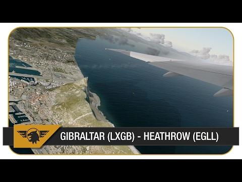 [P3D] 777 FULL POWER TAKEOFF FROM GIBRALTAR! | VATSIM | Gibraltar (LXGB) - Heathrow (EGLL)
