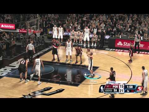 NBA 2K14 Playoffs : Blazers vs Spurs