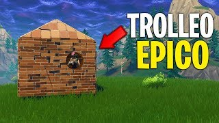 TROLLEO PEOPLE SHOOTING THROUGH THE WALL Fortnite Epic Trick