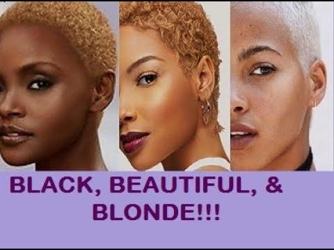 Beautiful Black Women Wearing Blonde Hair Blonde Hairstyles Black Women Blonde W Dark Skin Tones