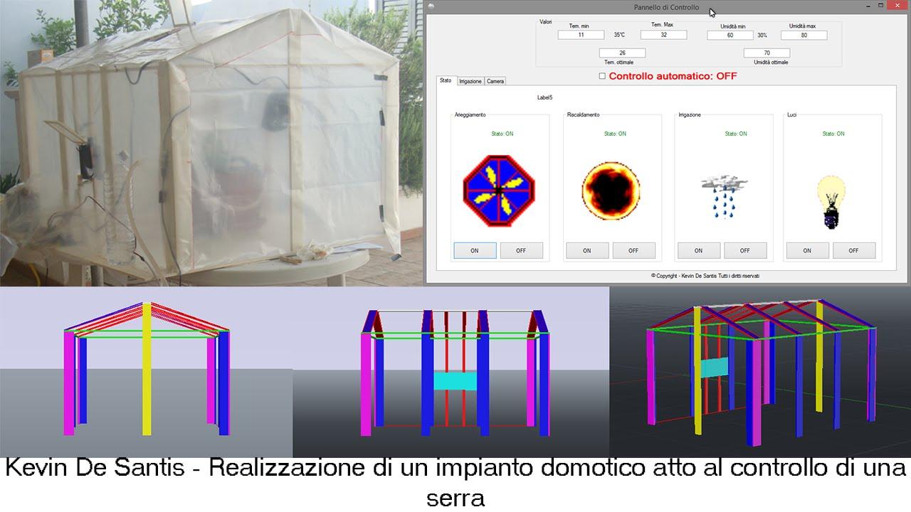 Realizzazione di un impianto domotico atto al controllo di for Impianto domotico