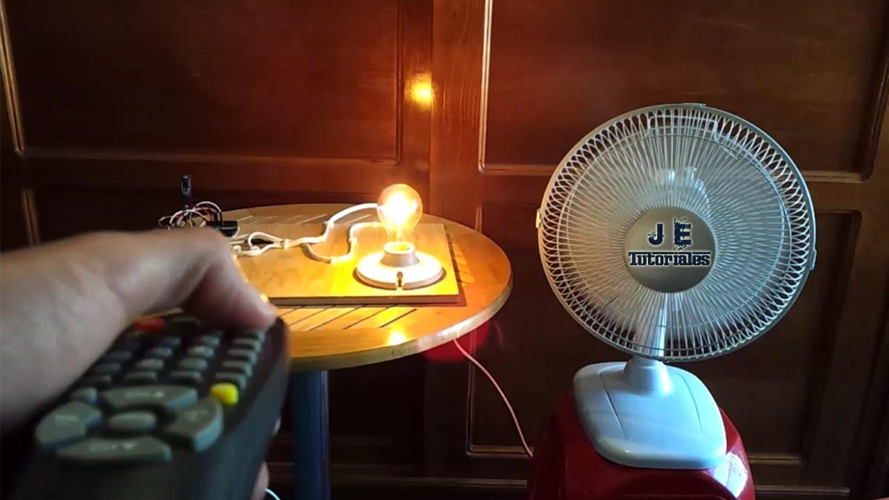 Encender Foco y Ventilador con Control Remoto  YouTube