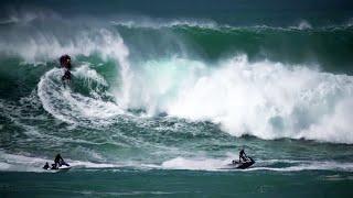 Jet Skis Race Against Disaster At Massive Waimea Bay