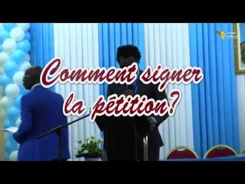 COMMENT SIGNER LA PETITION INTERNATIONALE?