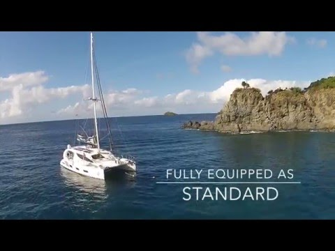 X5 SAIL 50' luxury sailing catamaran (drone video)