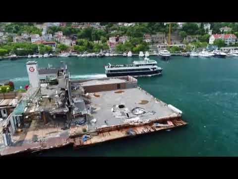 Galatasaray Adası'nın Son Hali Havadan Görüntülendi