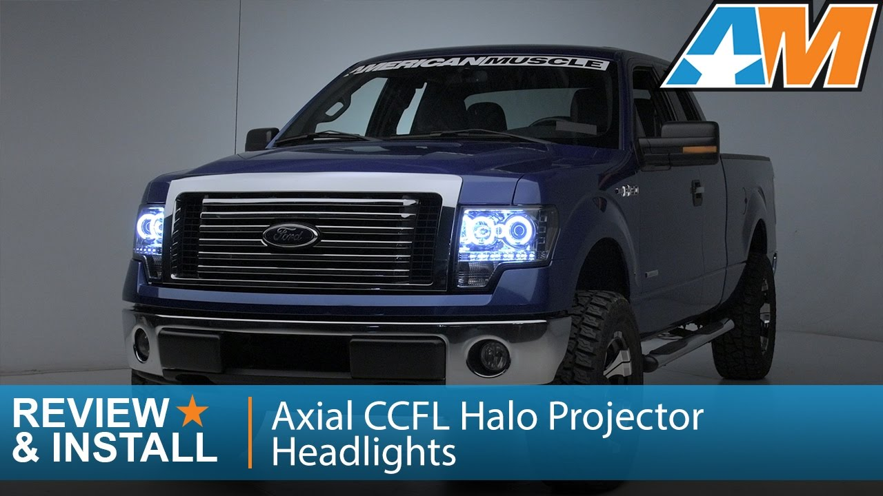 hight resolution of 2009 2014 f 150 axial ccfl halo projector headlights review install