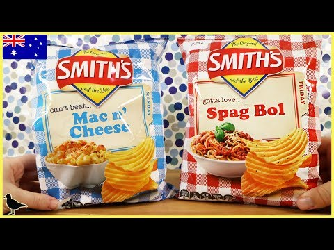 Smith's Mac N' Cheese & Spag Bol Potato Chips Food Tasting Review! | Birdew Reviews