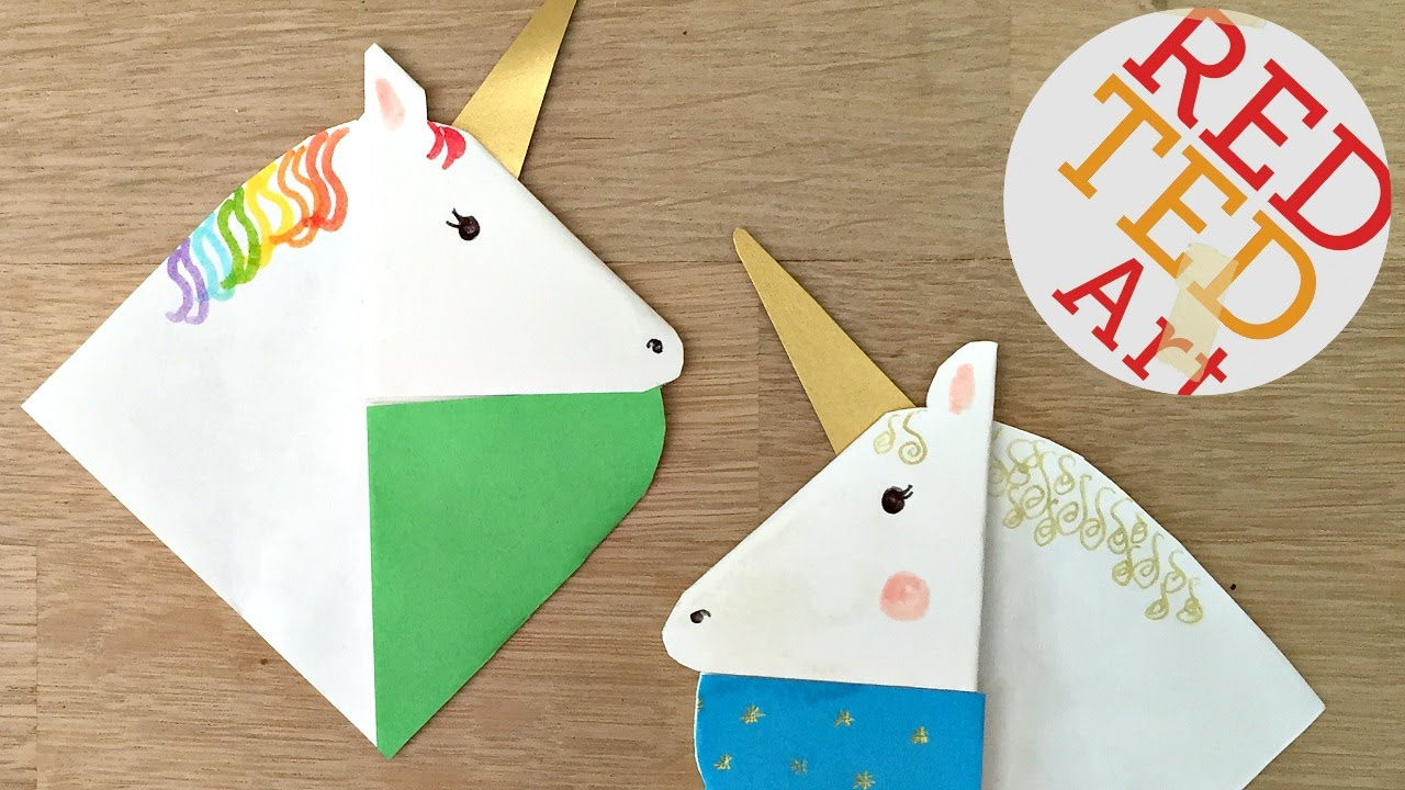 Unicorn Bookmarks With Jenny From Origami Tree NextUp 2016