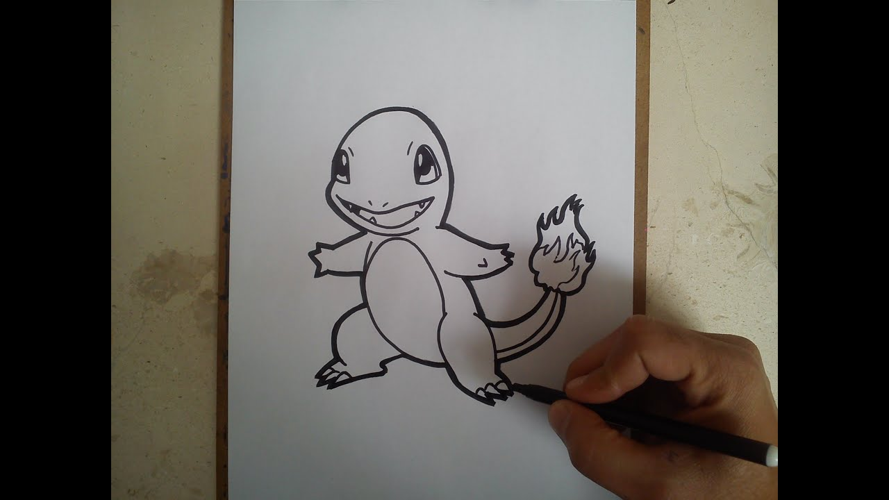 Como Dibujar A Charmander Pokemon Go How Ti Draw Charmander