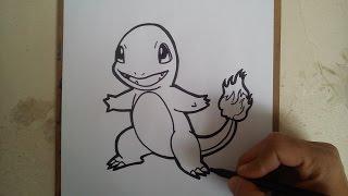 COMO DIBUJAR A CHARMANDER - POKEMON GO / how ti draw charmander - pokemon go