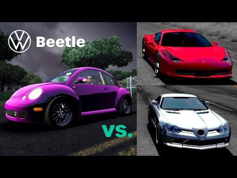 Pink VW Beetle VS. FERRARI 458 Italia & MERCEDES SLR McLaren - TDU