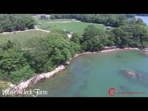 Wolf Neck Farm Freeport Maine Aerials Bird's eye view
