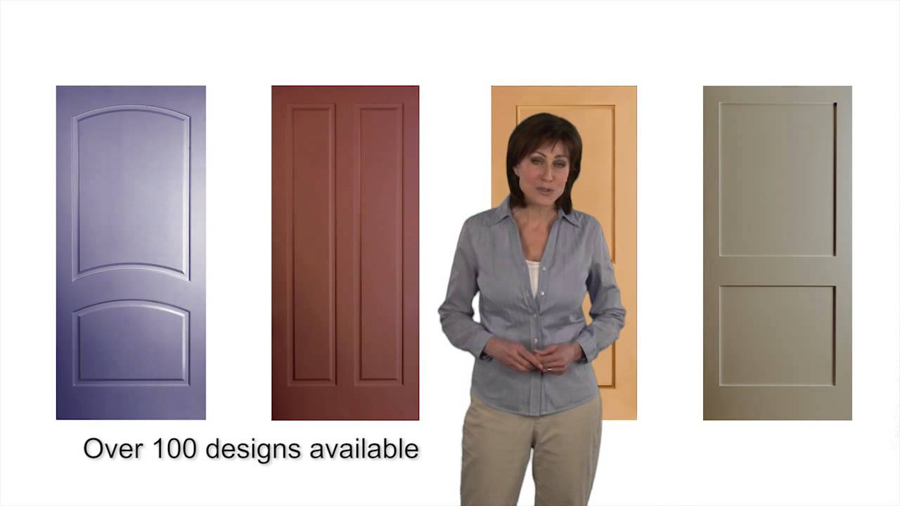 jeld wen interior molded composite doors overview hd youtube. Black Bedroom Furniture Sets. Home Design Ideas