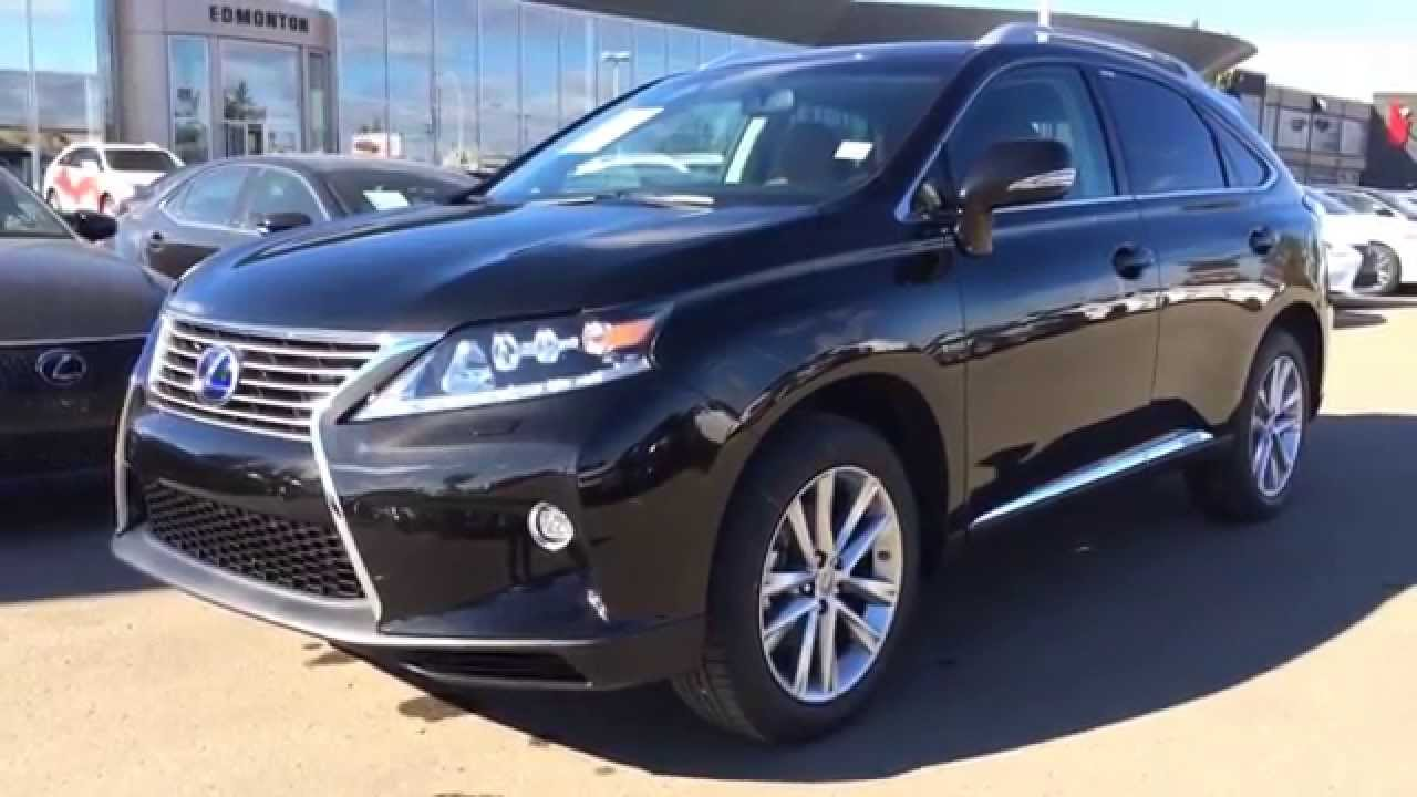 2015 Lexus RX 450h Hybrid AWD Black On Saddle Tan   Technology Package  Review Canada