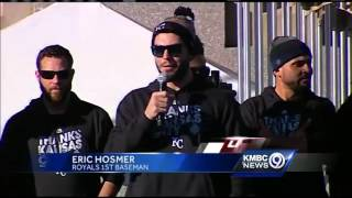 Eric Hosmer: Glad the World Series trophy is right where it belongs