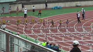 女子 100mH 予選7組(-0.8) 1 13.85 (0.148) Q 中島ひとみ (4) 園田学...