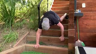 "Horton Fitness Feat Of The Week"" ""Backwards Stair Bear Crawls"""