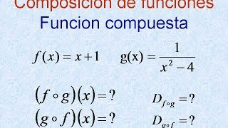 Composición de funciones ejercicios resueltos dominio y rango, función compuesta