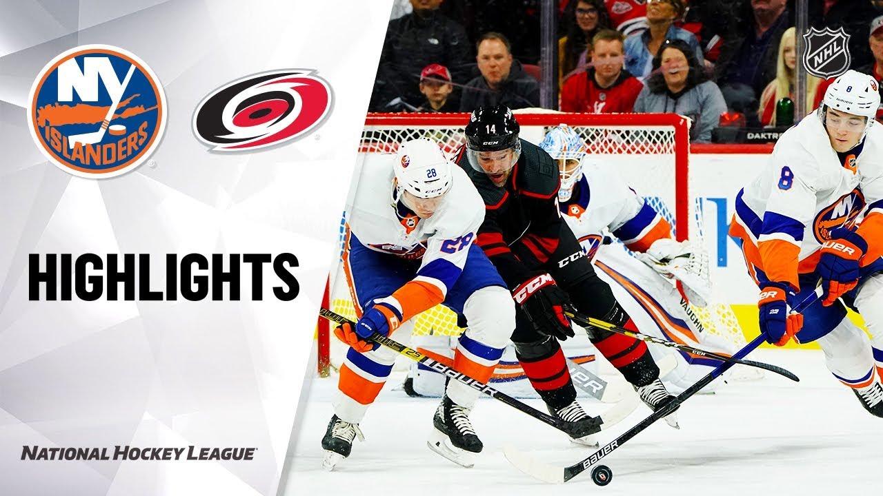 NHL Highlights | Islanders @ Hurricanes 1/19/20