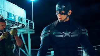 Captain America Opening Ship Fight Scene - Captain America: The Winter Soldier (2014) Movie CLIP HD