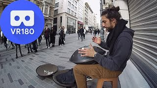 Download VR180 - Street Musician is Playing Hung Drum in Taksim / Istanbul Mp3 and Videos
