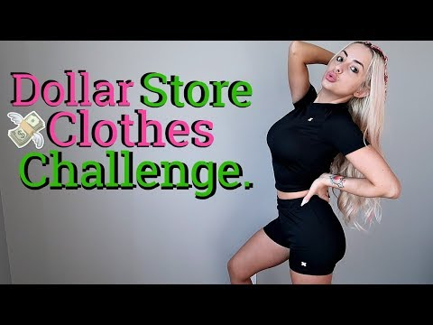 I ONLY Wear DOLLAR STORE CLOTHES For 24 Hours.