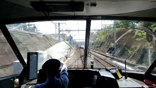 【鳳から120キロで阪和線を駆け抜ける特急くろしお 阪和線でも十分な速さ パノラマ前面展望 天王寺~日根野】