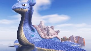 Minecraft vs Pokemon Go GIGA LAPRAS Build! (Pokego Land)