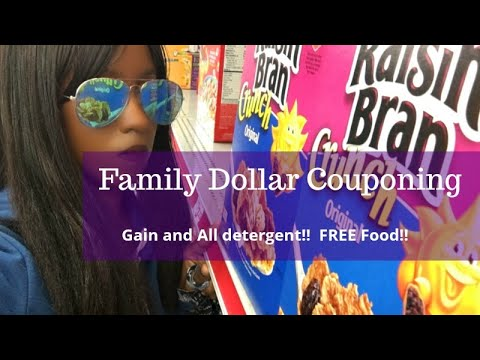 Family Dollar $5 Off $25.  All Digital Couponing.  Gain And All Detergent!  Grocery Haul.  FREE Food
