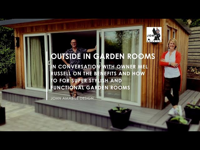 In Conversation With Mel Russel - Owner Outside In Garden Rooms  |  Garden Office  | Outdoor Living