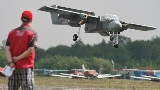 GIANT 38% SCALE OV -10 BRONCO STEVE HOLLAND AT BLACKBUSHE RC MODEL AIRSHOW - 2014