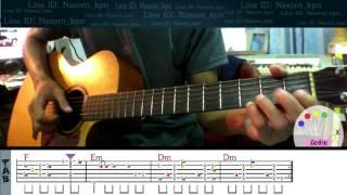 สอนกีตาร์ ความจริงRoom39 step by step+TAB