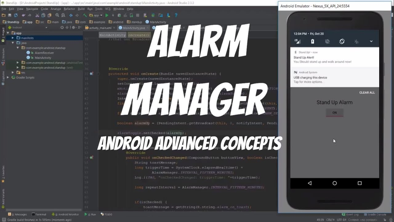 Android Alarm Manager - Stand Up! App