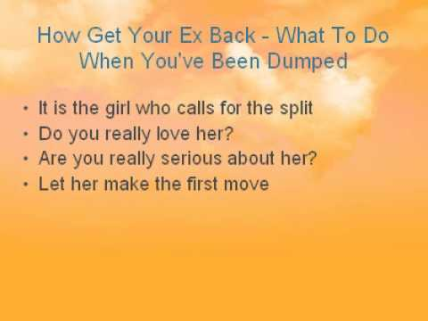 what to do when you ve been dumped