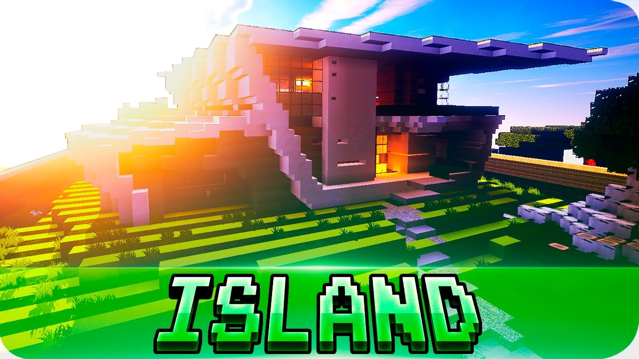 Minecraft Modern Mansion House On Island Cinematic Map Download Funnydog Tv