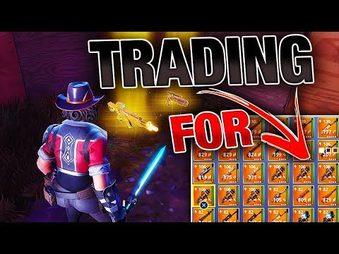 Overpaying in TRADES For VINDERTECH Weapons! | Fortnite Save the World
